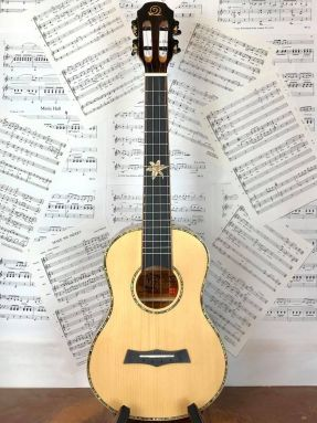 Snail BHC-5T Solid Spruce Top/Ebony Tenor Ukulele with Slotted Headstock
