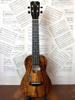 Kanile'a ISL-C Solid Premium Curly Koa Concert Ukulele Island Inlays #24939