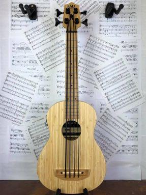 Kala U-BASS-BMB-FS Solid Bamboo UBass Bass Ukulele w/Gigbag