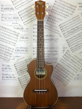 Ohana CK20CE Electro Acoustic Concert Ukulele Solid Mahogany Top