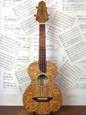 USED Solid Sycamore Compass Rose Tenor Ukulele with MiSi pickup