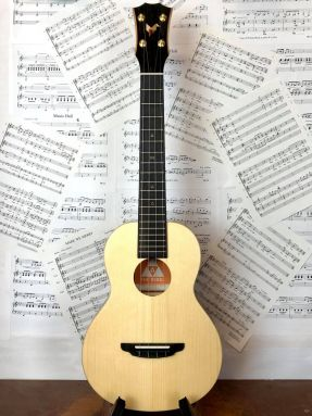The Rebel - All Solid Spruce/Mahogany Tenor Ukulele (Double Cheese) w/Bag (Small Flaw)