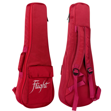 Flight Deluxe Soprano Ukulele Gigbag - Red
