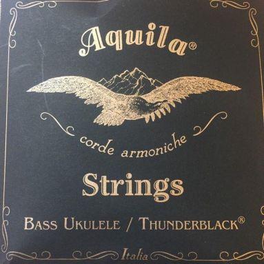 Aquila Thunderblack Bass Ukulele Strings Black 140U