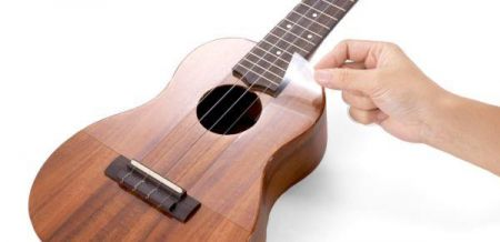 aNueNue UPT Static Adhesive Clear Pickguard for Tenor ukulele