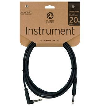 Planet Waves 20ft Classic Instrument Cable Right Angle Jack
