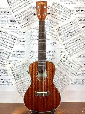 USED Kala KA-CGE Electro Acoustic Concert Ukulele Gloss Mahogany
