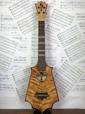UkeSA Masterpiece Solid Koa Tenor Sceptre Ukulele in Gigbag #1