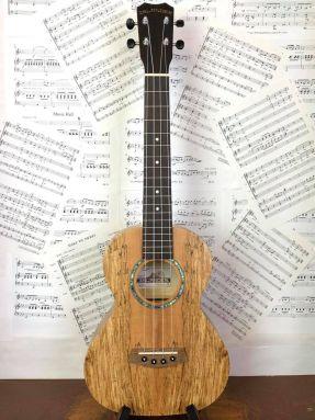 Kanile'a Islander MAT-4 Tenor 4 string ukulele Spalted Maple