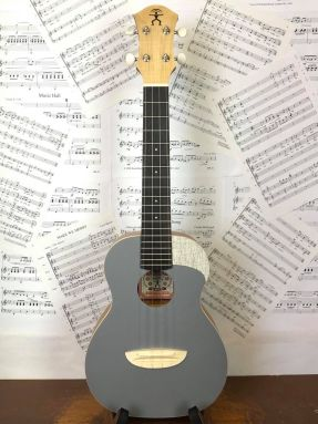 AnueNue UC10-QS Quiet Shade Solid Spruce Top Concert Ukulele w/Gigbag