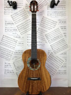 Snail S60BL Left Handed All Solid Flamed Acacia Baritone Ukulele w/Gigbag (GCEA) (LIMITED RUN)
