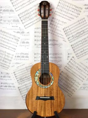 Snail S60T All Solid Flamed Acacia Electro Acoustic Tenor Ukulele with Gigbag #9