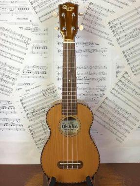 Ohana SK50WG Soprano Ukulele Solid Cedar Top