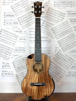 Snail SR-04TE-LH Left Handed Tenor Ukulele Solid Acacia Bevelled Edge and Cutaway