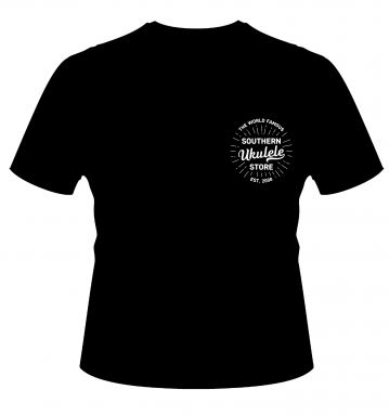 SUS Black Unisex T-Shirt with 'World Famous' breast logo