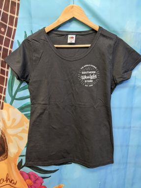 SUS Light Charcoal Ladies T-Shirt with 'World Famous' breast logo