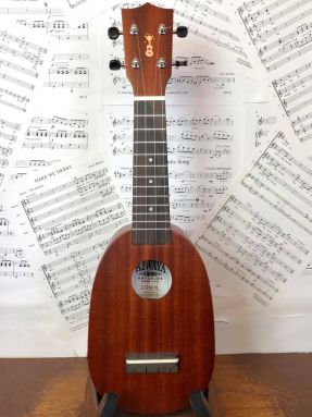 Kiwaya TRIP-02 Mahogany Mini Pineapple Soprano Ukulele w/Gigbag