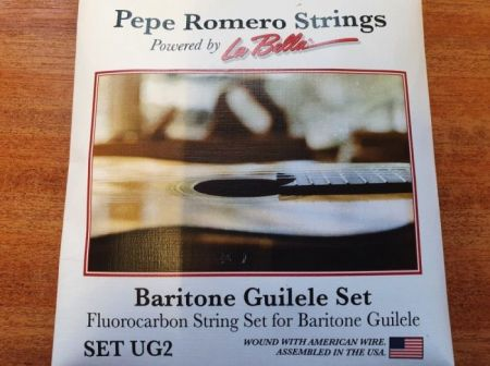 Pepe Romero UG2 Baritone Guilele Strings Fluorocarbon E - E tuning