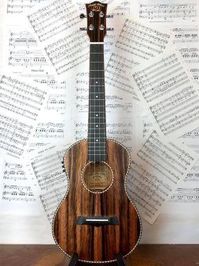 Snail UKT-598EQ Electro Acoustic Tenor Ukulele Ebony With Free Gigbag!