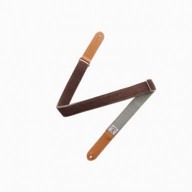 AnueNue US3GRY Brown/Grey Wool Ukulele Strap w/Headstock tie