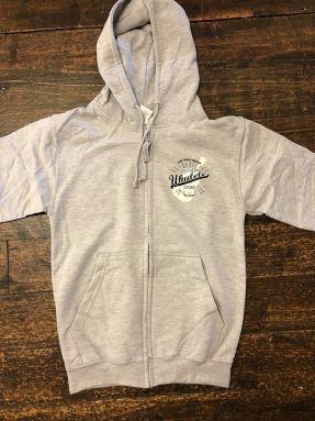 SUS Zip Up Hoodie - Heather Grey with 'Est 2008' breast logo