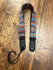 Funky Strap Co - Blue Aztec Ukulele Strap