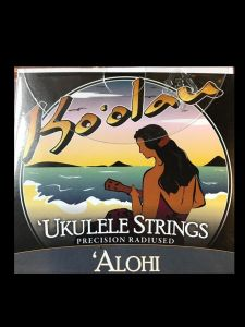 Ko'olau Alohi Clear Tenor High G Ukulele Strings Wound 3rd