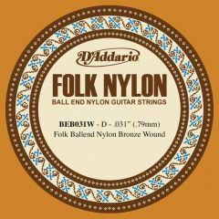 D'Addario BEB031W Folk Nylon Bronze Wound Tenor/Baritone Low G String