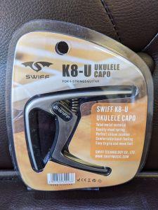Swiff K8-U Spring Loaded Ukulele Capo Chrome