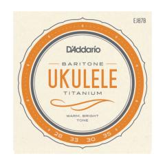 D'Addario EJ87BCUSTOM Titanium Baritone Ukulele Strings HIGH D