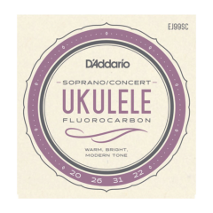 D'addario EJ99SC Pro-Arté Carbon Ukulele Soprano/Concert Strings