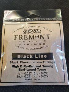 Fremont Black Line Tenor EBGd High D Ukulele strings set of 4