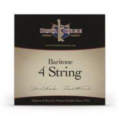 Kamaka S-4 Baritone Ukulele Strings Black Nylon Set of 4