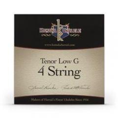 Kamaka S-3G Tenor Ukulele LOW G Strings Black Nylon Set of 4