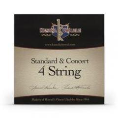 Kamaka S-1 Soprano/Concert Ukulele Strings Black Nylon Set of 4