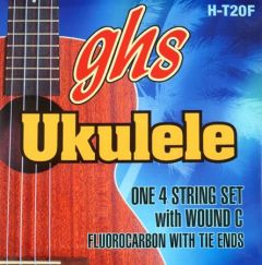 GHS Fingerstyle Flurocarbon Tenor Strings With Wound C - HT20F