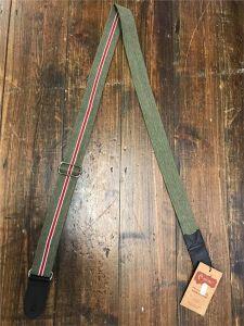 Righton Roadrunner Estoril Green (Red stripe) Premium Ukulele Strap