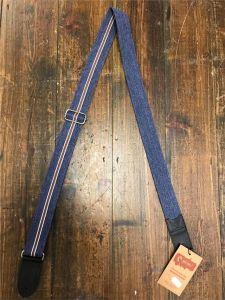 Righton Roadrunner Estoril Blue (Red stripe) Premium Ukulele Strap