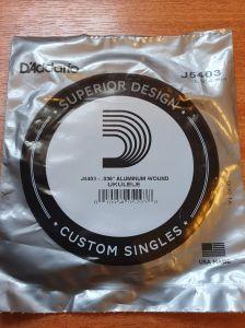 "D'Addario J5403 .036"" Aluminium Wound Tenor 3rd C String"
