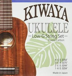 Kiwaya KFC-LG Low G Clear Fluorocarbon Ukulele String Set