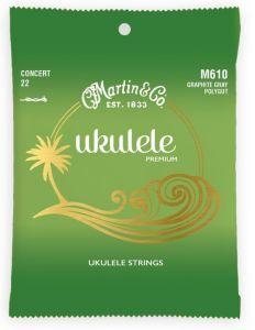 Martin M610 Polygut Concert Ukulele Strings set of 4 High G
