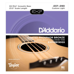D'Addario EXPPBB190GS Phosphor Bronze Micro Bass Strings - Suitable for Guild Jumbo Bass or Taylor GS Mini Bass