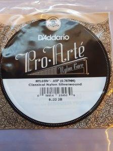 D'Addario Silverwound Nylon Tenor/Baritone Wound Low G String NYL031W .787mm