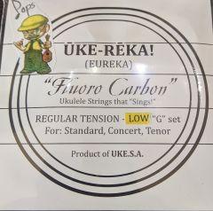 UKE-SA Uke-Reka Clear Fluorocarbon Soprano/Concert/Tenor Low G Ukulele Strings