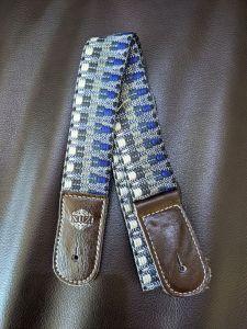 Isuzi UKLL-50 Premium Blue Pattern Cotton Ukulele Strap