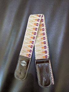Isuzi UKLL-50 Premium Brown Pattern Cotton Ukulele Strap