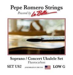 Pepe Romero US2 Soprano/Concert Low G Fluorocarbon Ukulele Strings