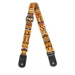 Flight S35 Polyester Ukulele Strap - Marigold w/headstock strap tie