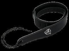 Flight S51 Black Leather Ukulele Strap