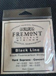 Fremont Black Line Fluorocarbon Strings Set of 4 Soprano/Concert Hard Tension